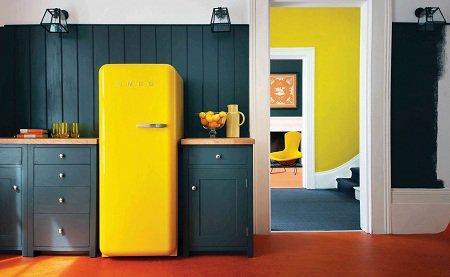 Декор холодильника в интерьере