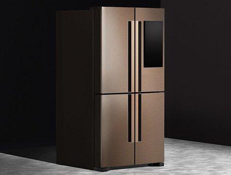 Холодильник Gaze показывает еду на наружном экране