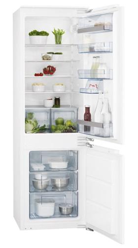 встраиваемый двухкамерный холодильник AEG SCS61800F1