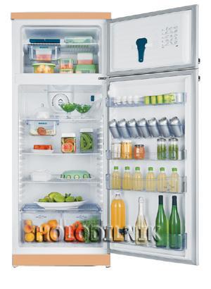 двухкамерный холодильник Dako DT-450 TURBO(бежевый)