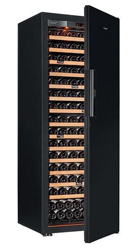винный шкаф EuroCave S-Revel-L Black Piano черный (182 бутылки)