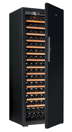 винный шкаф EuroCave V-Pure-L Black Piano черный (182 бутылки)