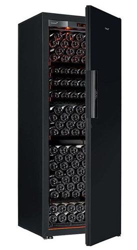 винный шкаф EuroCave V-Revel-L Black Piano черный (215 бутылок)