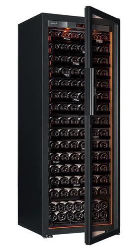 винный шкаф EuroCave V-Revel-L Full glass черный (182 бутылки)