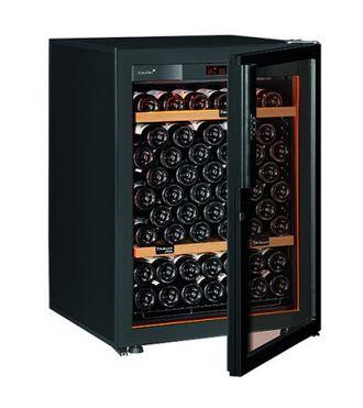 винный шкаф EuroCave V-Revel-S Full glass черный (92 бутылки)