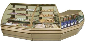 холодильная и морозильная витрина Norpe SAGA-PT-EA-45_дуб