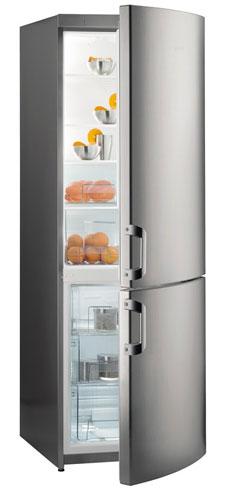 двухкамерный холодильник Gorenje NRK61801X