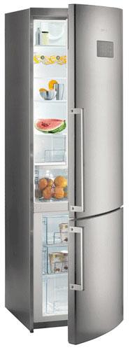 двухкамерный холодильник Gorenje NRK6201MX
