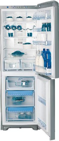 двухкамерный холодильник Indesit PBAA 33 NF X