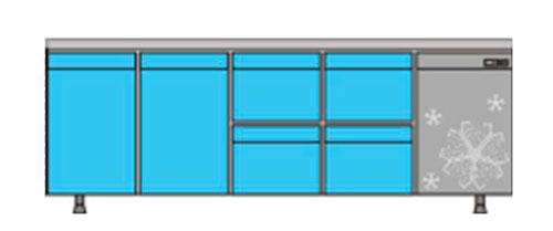 охлаждаемый стол КОБОР C6-2D4B