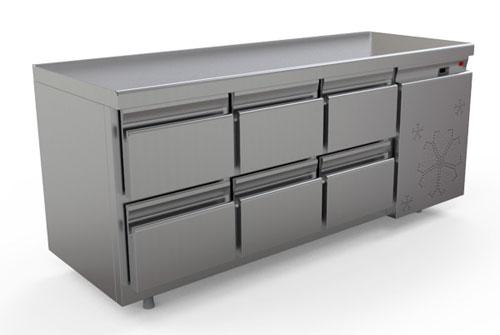 охлаждаемый стол КОБОР C6-6B