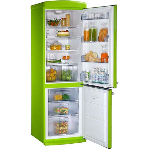 двухкамерный холодильник Schaub Lorenz SLUS 335 G2 ярко-салатовый