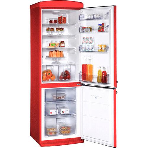 двухкамерный холодильник Schaub Lorenz SLUS 335 R2 ярко-красный