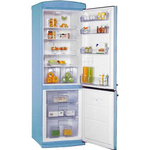 двухкамерный холодильник Schaub Lorenz SLUS 335 U2 небесно-голубой
