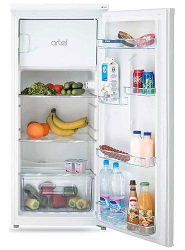 однокамерный холодильник Artel HS 228 RN white right min