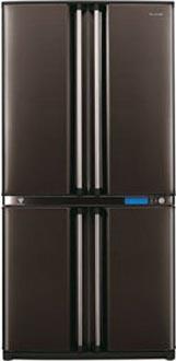 двухкамерный холодильник Sharp SJ-F91SPBK