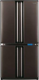двухкамерный холодильник Sharp SJ-F96SPBK