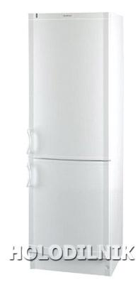 двухкамерный холодильник Vestfrost BKF-355-04 Alarm белый