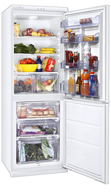двухкамерный холодильник Zanussi ZRB330WO